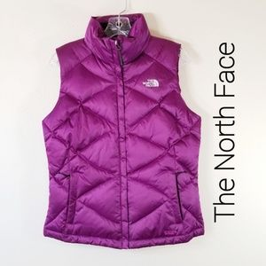 The North Face M Down Purple Quilted Vest